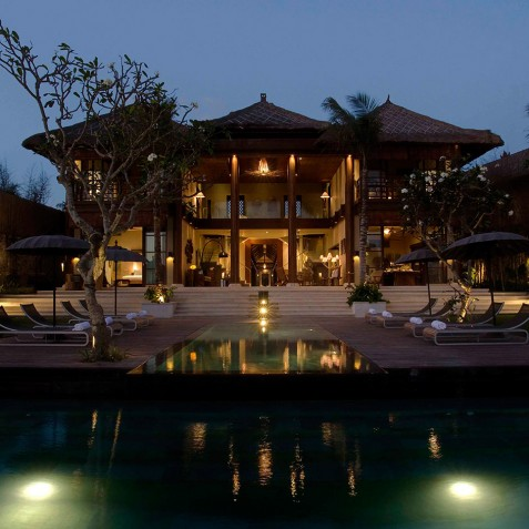 Villa Melissa Bali - View from Beach at Night - Pantai Lima, Canggu, Bali