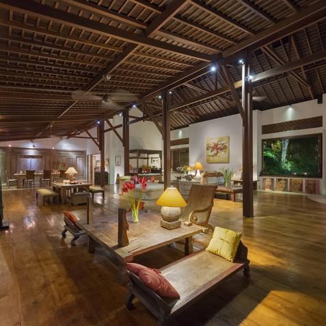 Villa Paloma Bali - Living Room at Night - Canggu, Bali