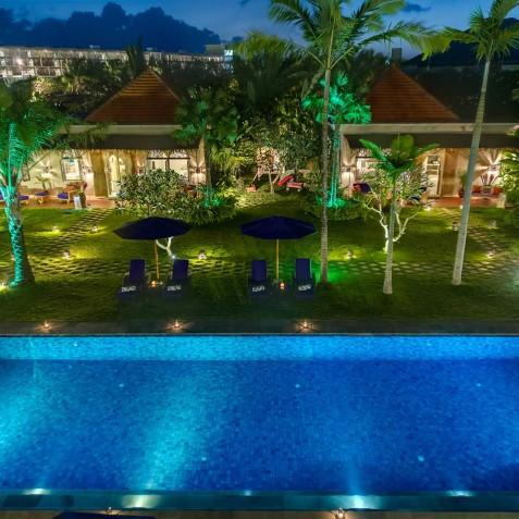 Villa Sayang d'Amour - Aerial View - Seminyak, Bali