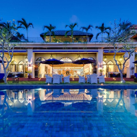 Villa Sayang d'Amour - Pool View at Night - Seminyak, Bali