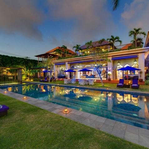 Villa Sayang d'Amour - Villa at Dusk - Seminyak, Bali