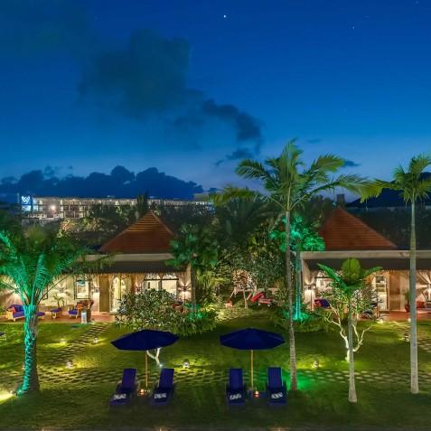 Villa Sayang d'Amour - Villa at Night - Seminyak, Bali