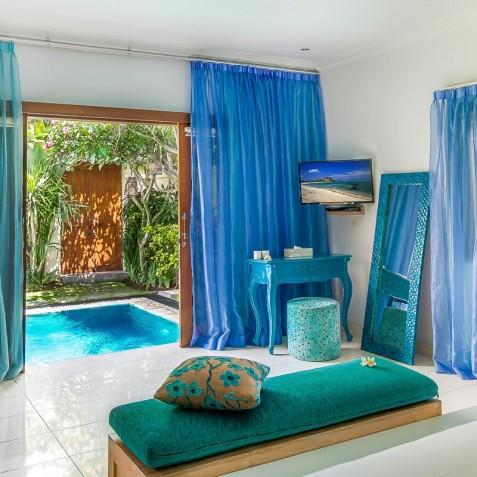 Villa Sea - 4S Villas - Poolside Master Bedroom - Seminyak, Bali