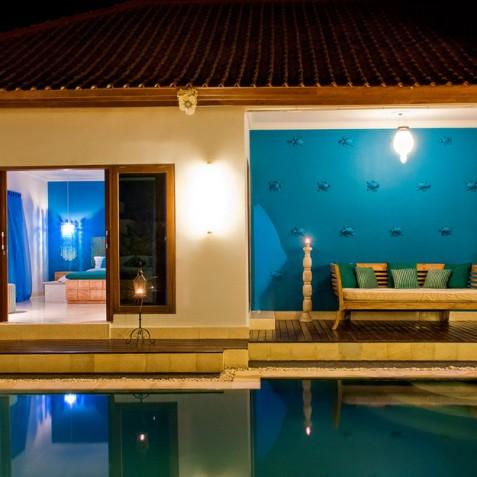 Villa Sea - 4S Villas - View to Bedrooms - Seminyak, Bali