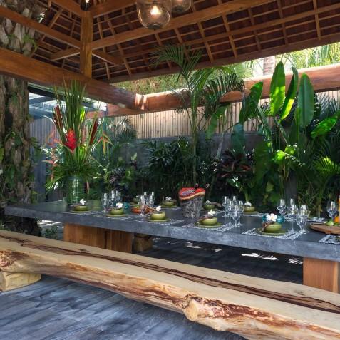 Villa Shambala - BBQ Dining Area - Seminyak, Bali