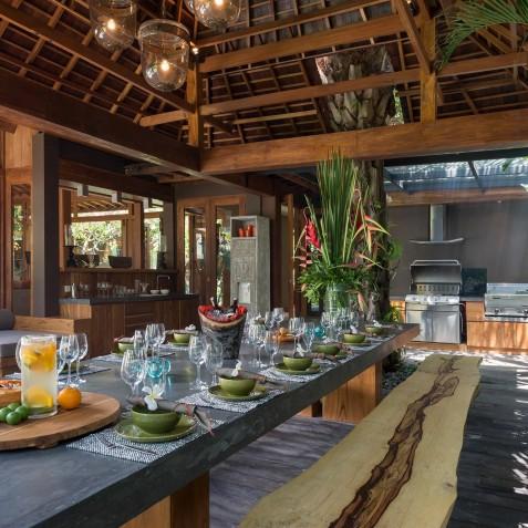Villa Shambala - Outdoor Dining Area - Seminyak, Bali