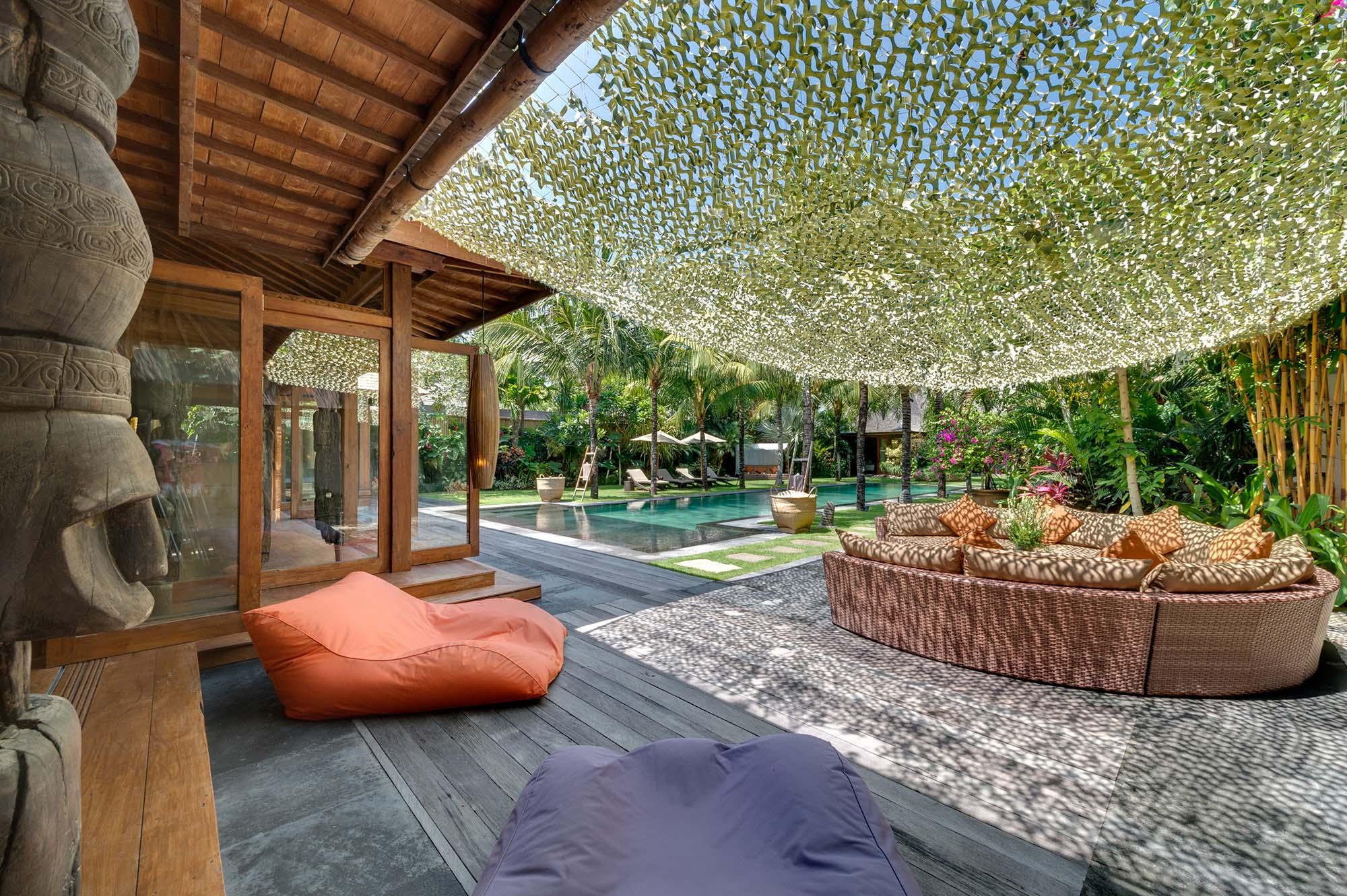 Villa Shambala - Outdoor Lounge Area - Seminyak, Bali