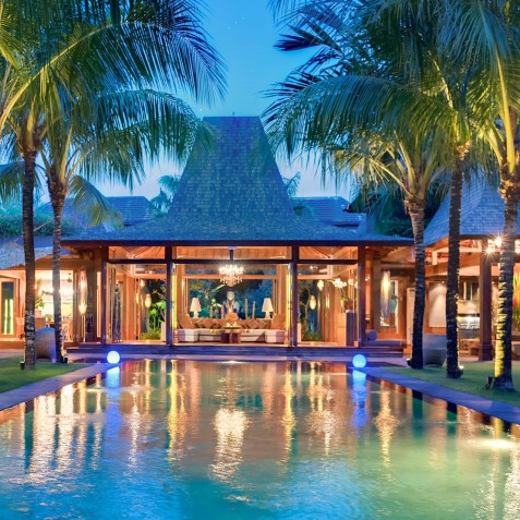 Villa Shambala - Villa at Night - Seminyak, Bali