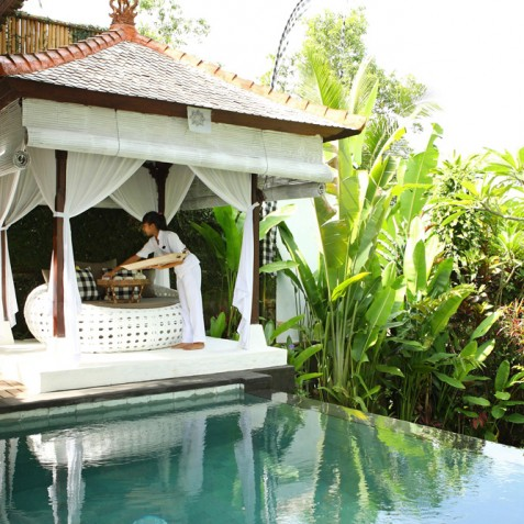 Villa Shamballa Moon, Ubud, Bali - Bale and Pool