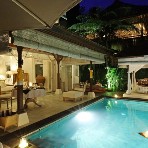 Villa Shamballa Moon, Ubud, Bali - Pool at Night