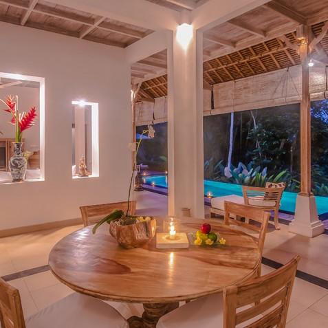 Villa Shamballa Residence, Ubud, Bali - Indoor Dining Area