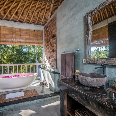 Villa Shamballa Residence, Ubud, Bali - Open Air Bathroom