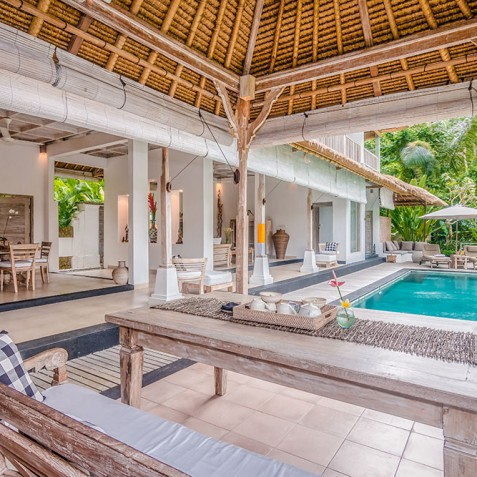 Villa Shamballa Residence, Ubud, Bali - Open Air Living by Pool