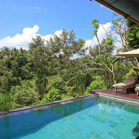 Villa Shamballa Ubud Bali - Pool and Sun Deck