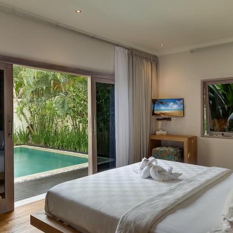 Villa Sky - 4S Villas - Bedroom View - Seminyak, Bali
