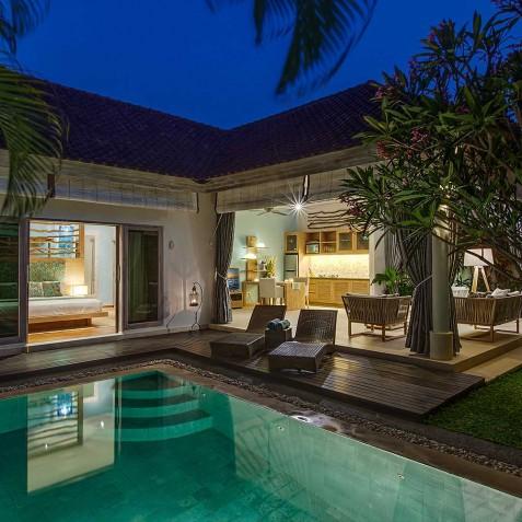 Villa Sky - 4S Villas - Evening - Seminyak, Bali
