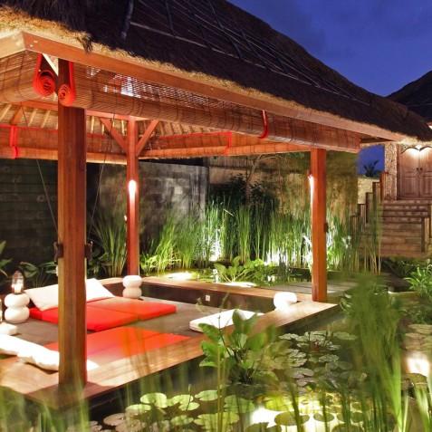 Villa Sound of the Sea Bali - Floating Bale at Night - Canggu, Bali