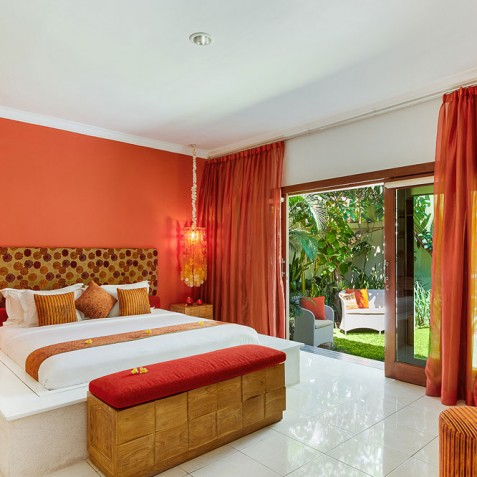 Villa Sun - 4S Villas - Garden View Bedroom - Seminyak, Bali