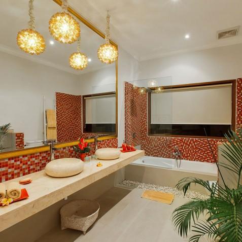 Villa Sun - 4S Villas - Garden View Bedroom Bathroom - Seminyak, Bali