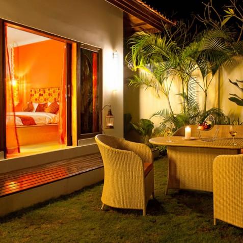 Villa Sun - 4S Villas - Outdoor Dining - Seminyak, Bali