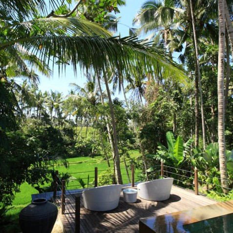 Villa Swarapadi, Ubud, Bali - Pool Deck View