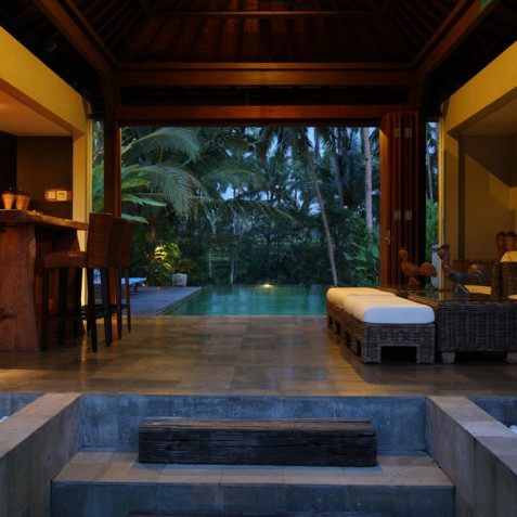 Villa Swarapadi, Ubud, Bali - Pool Lounge Bar