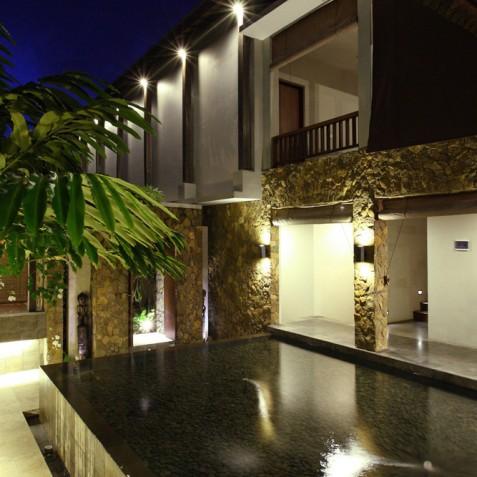 Villa Swarapadi, Ubud, Bali - Villa at Night