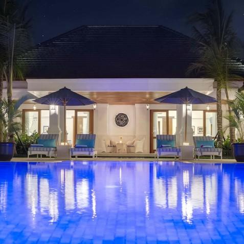Villa Windu Asri - Pool at Night - Seminyak, Bali