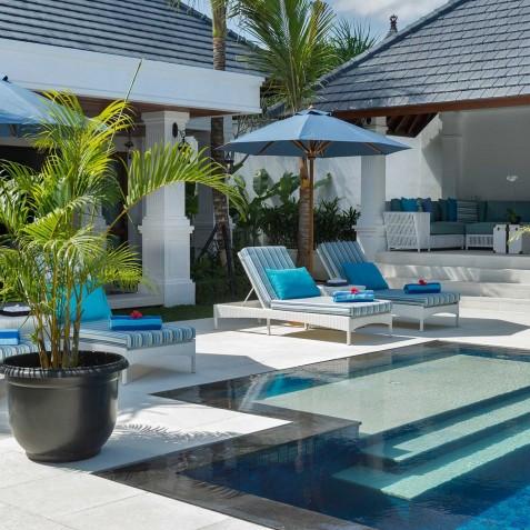 Villa Windu Asri - Sun Loungers by Pool - Seminyak, Bali