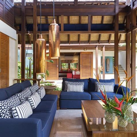 Villa Windu Sari - Lounge Area in Pavilion - Seminyak, Bali