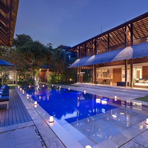 Villa Windu Sari - Villa at Night - Seminyak, Bali