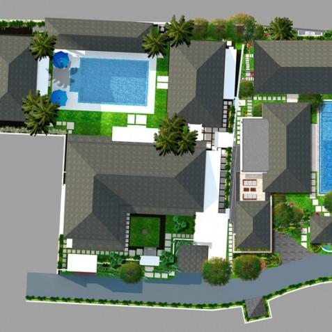 Windu Villas Bali - Roof Plan - Seminyak, Bali