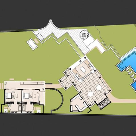 Villa Ambar - Semara Luxury Villa Resort - Uluwatu, Bali - Floor Plan