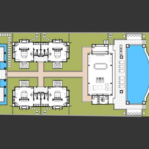 Villa Santai Sorga - Semara Luxury Villa Resort - Uluwatu, Bali - Floor Plan