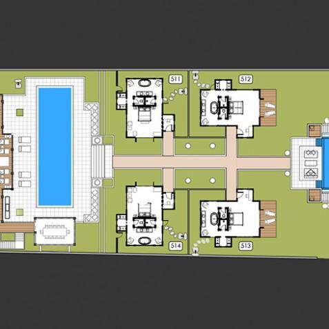 Villa Tamarama - Semara Luxury Villa Resort - Uluwatu, Bali - Floor Plan