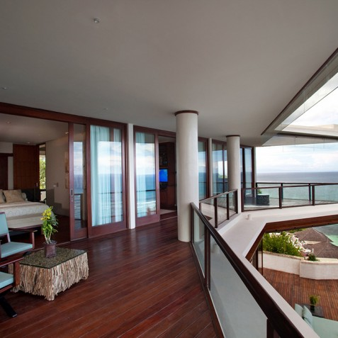 Bidadari Cliffside Estate, Nusa Dua, Bali - Upper Floor Balcony
