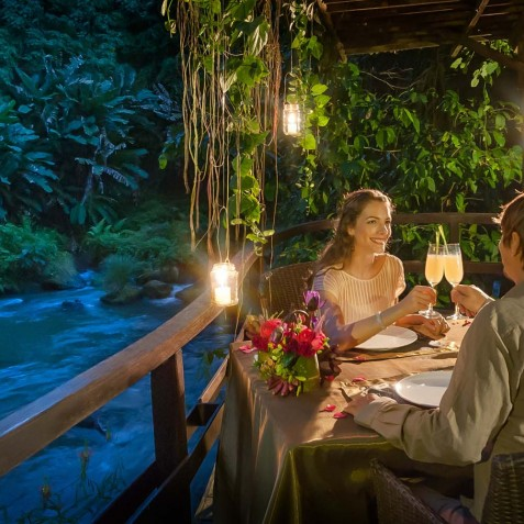 Fivelements Puri Ahisma, Bali - Romantic Dinner by River
