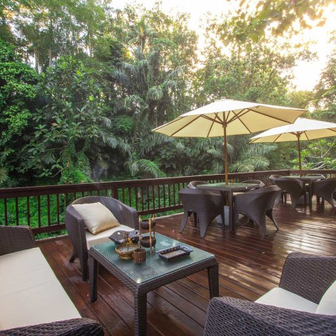Sukhavati Ayurvedic Retreat & Spa, Bali - River Deck