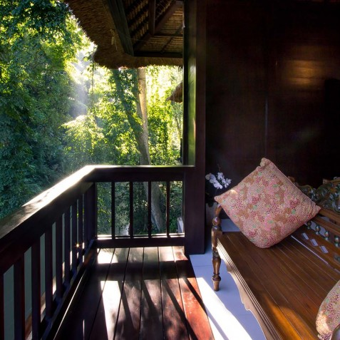 Sukhavati Ayurvedic Retreat & Spa, Bali - Spa Room Balcony
