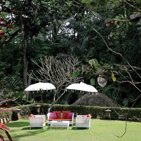 Sukhavati Ayurvedic Retreat & Spa, Bali - Garden Lounge Area