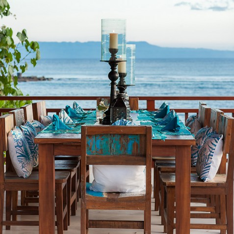 Tirta Nila Beach House, Candidasa, Bali - Alfresco Dining