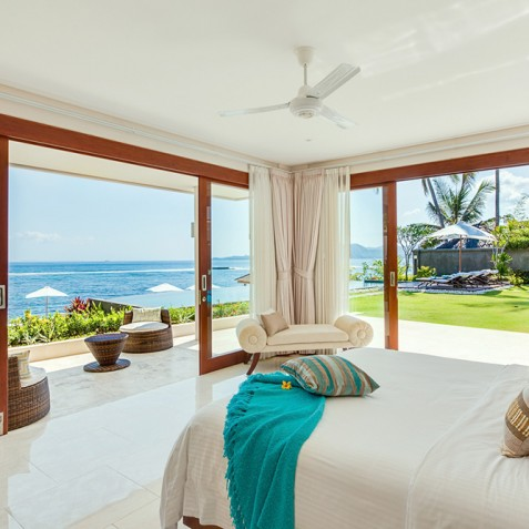 Tirta Nila Beach House, Candidasa, Bali - Downstairs Oceanfront Guest Bedroom