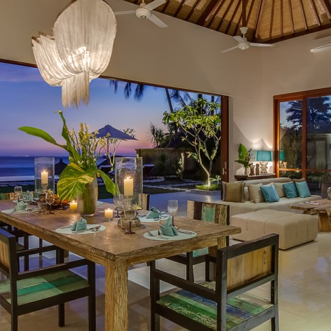 Tirta Nila Beach House, Candidasa, Bali - Indoor Dining