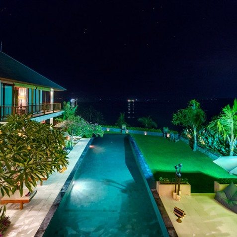 Villas Asada, Candidasa, Bali - View from Balcony at Night