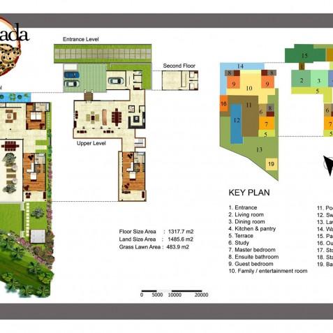 Villas Asada, Candidasa, Bali - Floor Plan