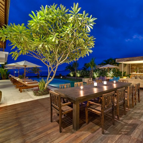 Villas Asada, Candidasa, Bali - Lounge, Bar and Dining Area
