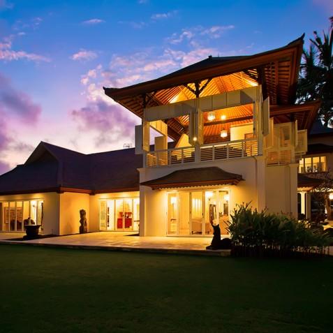 Villa Puri Nirwana, Sanur-Ketewel, Bali - Main House at Dusk