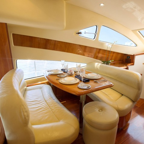 Dining Area - Burjuman - Luxury Yacht Charter & Cruises - Bali, Indonesia