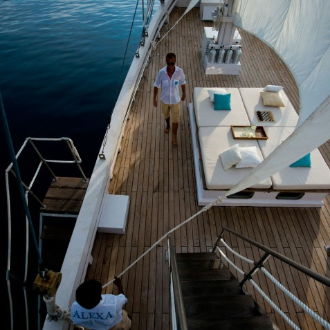 Upper Deck - Alexa Private Cruises - Luxury Charter Yacht - Indonesia