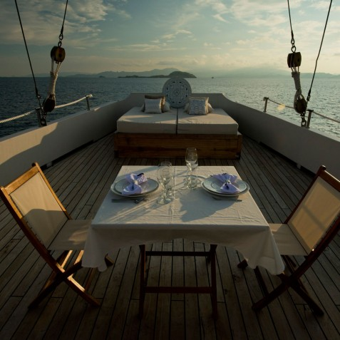 Dining & Relaxing Spaces - Alexa Private Cruises - Luxury Charter Yacht - Indonesia